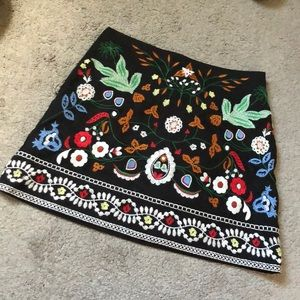 Black Embroidered Skirt!